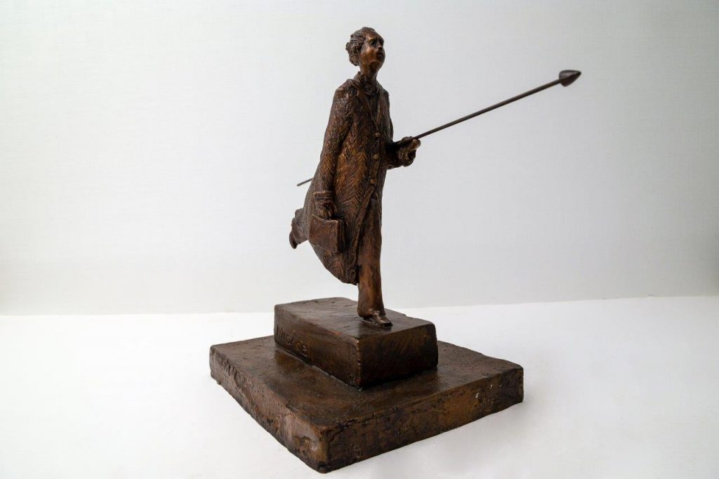 The Dreamer, Bronze Edition of 15, 11.25 x 13.5 x 6.75 inches, by Michael Hermesh