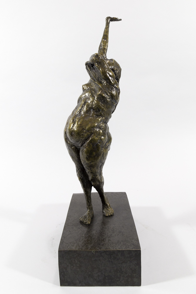 The Scar - Michael Hermesh, Bronze, 19.5 X 9.25 X 5.5 Inches, Ceramic and Bronze Sculpture by Michael Hermesh
